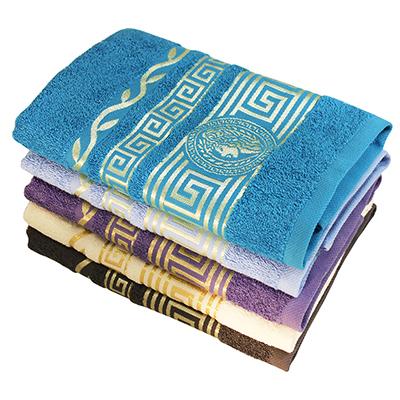 """484-862 Полотенце банное махровое, хлопок, 70х130см, 5 цветов, """"Греция"""""""