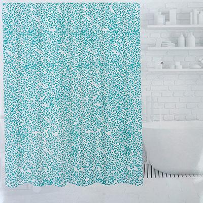 019-020 SonWelle Шторка для ванной, ПЕВА, 180х180см, 3 дизайна, ЛЕПЕСТКИ