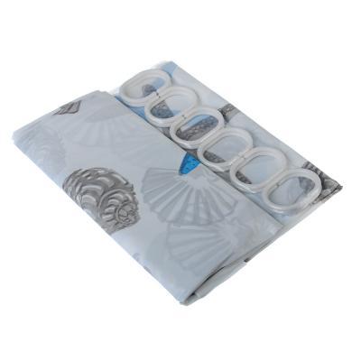 019-021 SonWelle Шторка для ванной, ПЕВА, 180х180см, 2 дизайна, ЗВЕЗДЫ
