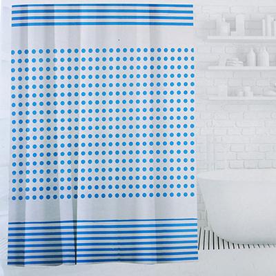 019-029 SonWelle Шторка для ванной, ПЕВА, 180х180см, 3 дизайна, ФАНТАЗИЯ