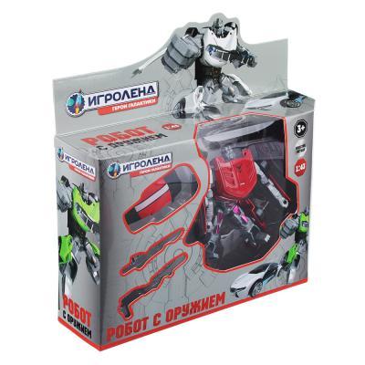 296-034 ИГРОЛЕНД Игрушка в виде Робота трансформирующегося, пластик, 12х16х3,5см, 4 дизайна