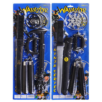 261-659 ИГРОЛЕНД Набор игровой оружие Воина, 6пр., пластик, 48х19х2, 5см, 2 дизайна