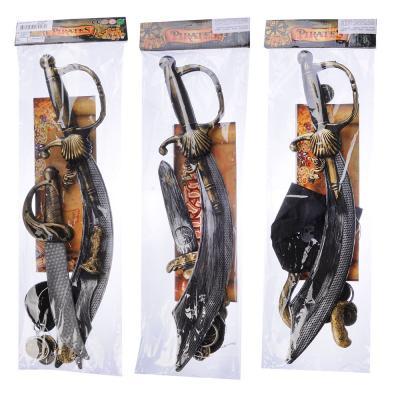 261-660 ИГРОЛЕНД Набор игровой оружие Пирата, 12 пр., пластик, 17х46х5см, 3 дизайна