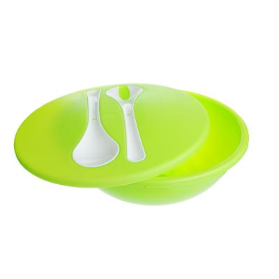 861-178 Салатник пластиковый 3 л с крышкой и столовыми приборами, пластик