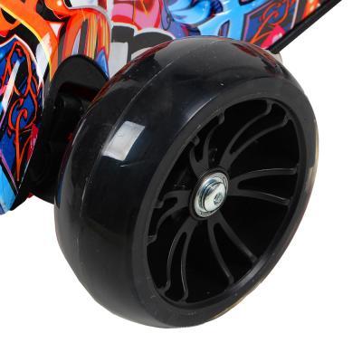 131-073 Самокат 3-х колесный SILAPRO со звуком и светом до 80 кг, 4 цвета