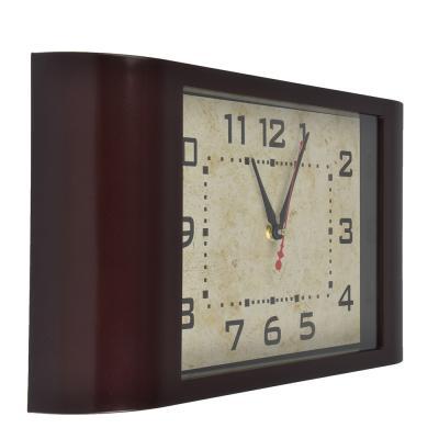 581-700 Часы настенные, пластик, 38x22.5x6.3см, 1 x АА, арт.DM 4