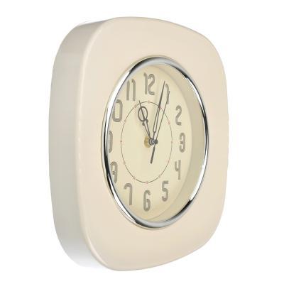 581-709 Часы настенные, пластик, 28x28x4.5см, 1 x АА, арт.DM 16