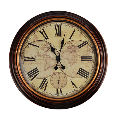581-713 Часы настенные, пластик, 50.7x50.7x4.9см, 2 x АА, арт.DM 21