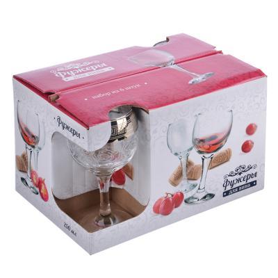 878-335 Набор фужеров 6шт для вина 250мл, в под/уп, 1711-ГНМ