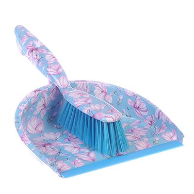 """445-386 Набор для уборки: совок, щетка, полипропилен, VETTA """"Весенние цветы"""", GC Design"""