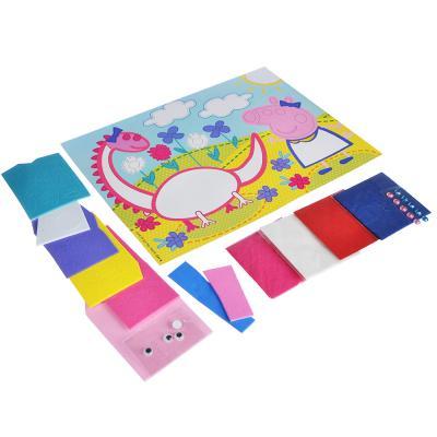 281-151 Аппликация бумагопластика МУЛЬТФИЛЬМЫ, стразы, картон, бумага, ЭВА, 19х25х0,3см, 4 дизайна