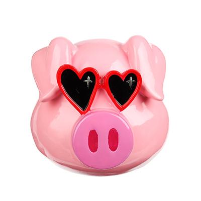 359-629 Копилка в виде свинки в очках, 13.5x12.5x11.8см, полистоун, Арт 27-12