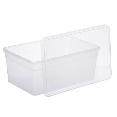 406-138 Ящик для хранения с крышкой 10л, полипропилен, 36х25х19 см, BASIC
