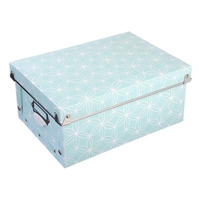 457-384 VETTA Короб для хранения складной, металлич.рамка, на кнопках, 29,7х21,8х12,5см, пластик, 2 дизайна