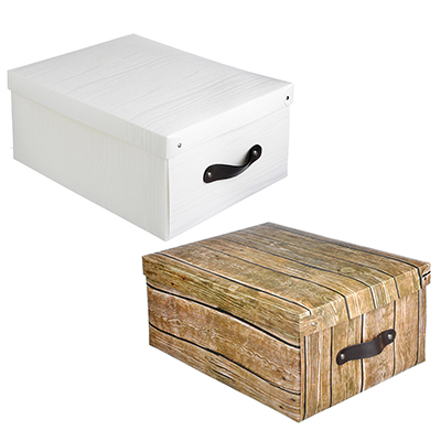 457-386 VETTA Короб для хранения складной с ручкой, 35х26,5х15см, пластик, 2 дизайна