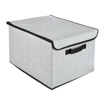 457-392 VETTA Кофр для хранения с крышкой, 30х40х25см, искусственный лен