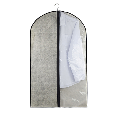 457-393 VETTA Чехол для одежды с прозрачным окном, 60х100см, искусственный лен, полиэтилен