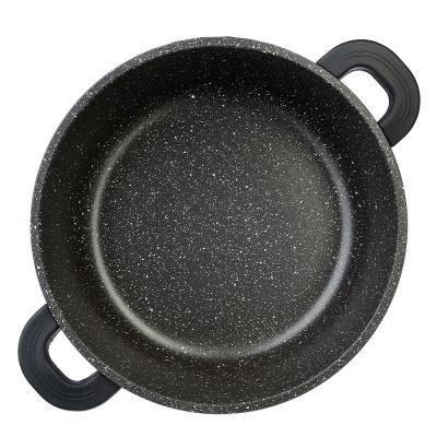 846-409 SATOSHI Лион Кастрюля с крышкой 9,3л d32*14,5см, а/приг.покр.Мрамор, силик.протекторы ручек, индукц