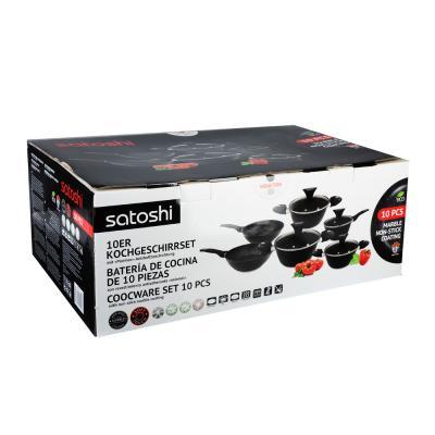 846-439 Набор посуды SATOSHI Ланьон, 10 предметов, антипригарное покрытие