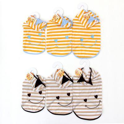 151-103 Футболка для животных Смайл с капюшоном, полиэстер, длина по спинке 30, 35, 40см, 2 цвета