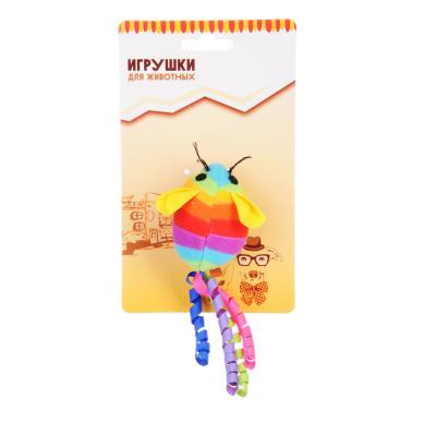 """183-044 Игрушка """"Мышка яркая"""", текстиль, 12-13 см, 4 цвета"""