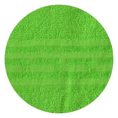 "489-140 Полотенце для лица махровое, хлопок, 50х80см, зеленое, ""Лайт"""