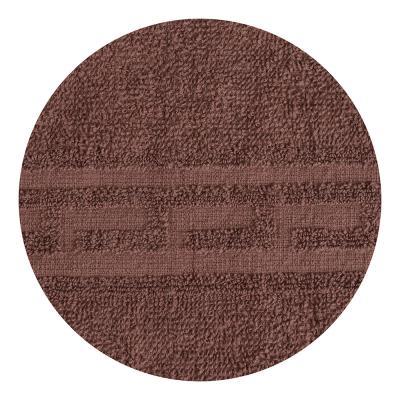 """489-142 Полотенце для лица махровое, хлопок, 50х80см, коричневое, """"Лайт"""""""