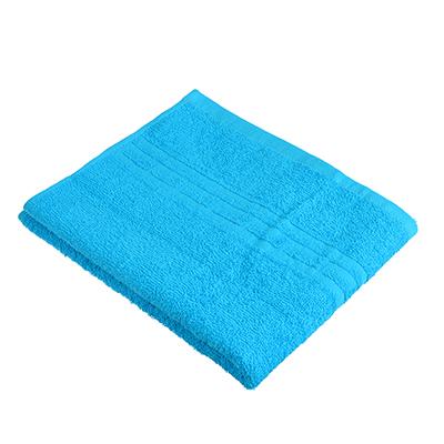 """489-149 Полотенце для лица махровое, хлопок, 50х80см, синие, """"Лайт"""""""