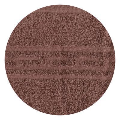 """484-864 Полотенце банное махровое, хлопок, 60х130см, коричневое, """"Лайт"""""""