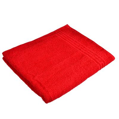 """484-865 Полотенце банное махровое, хлопок, 60х130см, красное, """"Лайт"""""""