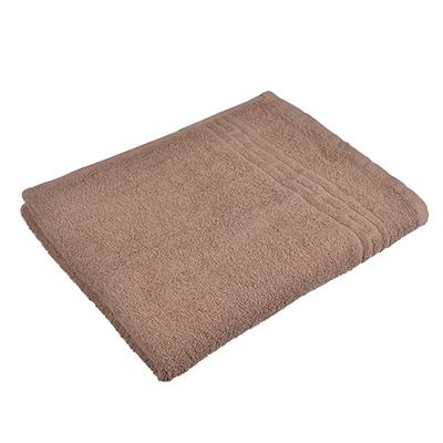 "484-868 Полотенце банное махровое коричневое ""Лайт"" 60х130см"