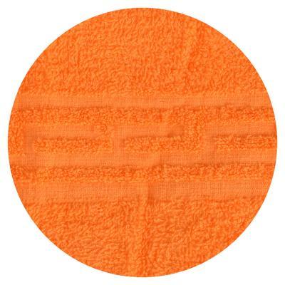 """484-874 Полотенце банное махровое, хлопок, 60х130см, оранжевое, """"Лайт"""""""
