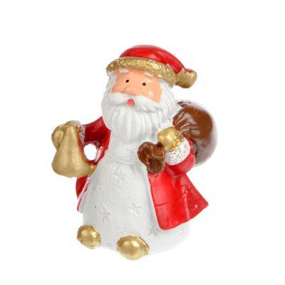 396-466 СНОУ БУМ Сувенир в виде Деда Мороза, 6см, полистоун, 4 дизайна