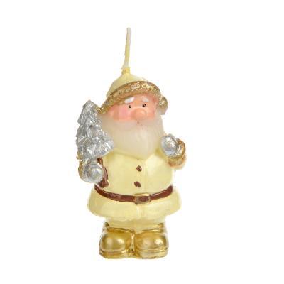 396-471 СНОУ БУМ Свеча в виде Деда Мороза, 5,2см, парафин, 4 дизайна, шампань