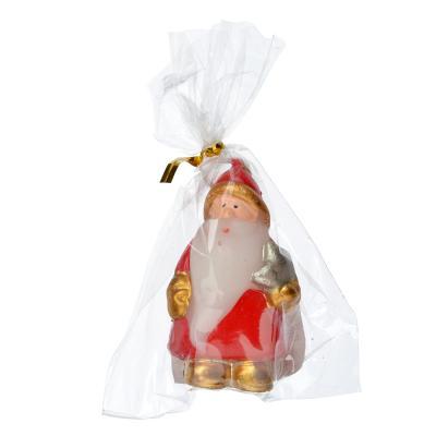396-474 СНОУ БУМ Свеча в виде Деда Мороза в подарочной упаковке, 6,5см, парафин, 4 дизайна