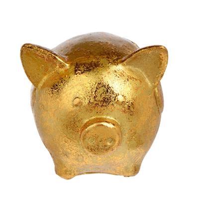 398-230 СНОУ БУМ Сувенир в виде свинки в сердечках, 5,5х6,3х5,6см, полистоун, бронза