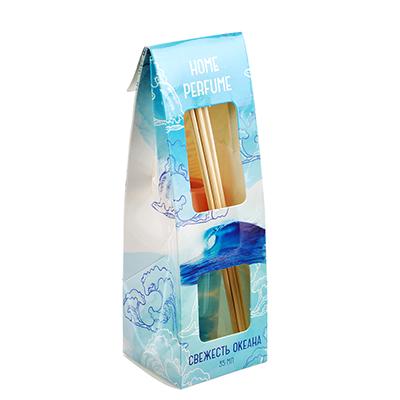 778-069 Ароматизатор диффузор с 6 палочками, аромат свежесть океана, 35 мл, NEW GALAXY