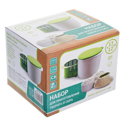 884-393 Емкость для приготовления творога, сыра 17х12см, пластик, силикон