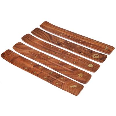 """425-144 Подставка для палочек """"Лыжа"""" с бронзовыми вставками, 25,5х3,5см, дерево, Н-1"""