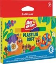 """239-009 Erich Krause Пластилин мягкий 6 цветов 144г, в картонной упаковке с подвесом, """"Артберри"""", 33300"""