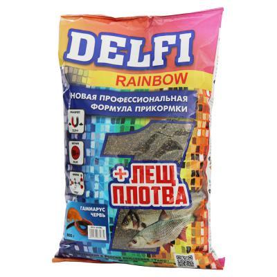 137-010 DELFI прикорм RAINBOW для леща и плотвы,червь, гаммарус, 800 гр DFG205