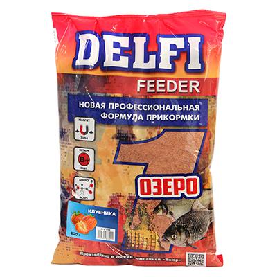 137-023 DELFI прикорм FEEDER для озера с ароматом клубники, 800гр DFG355