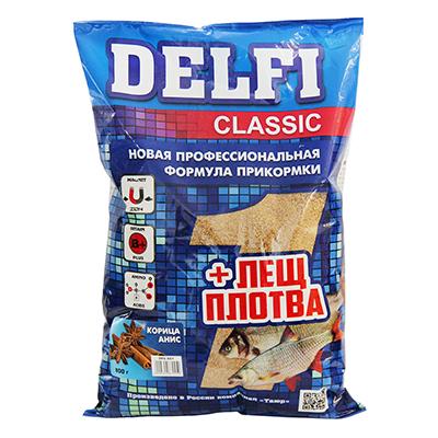 137-024 DELFI прикорм CLASSIC для леща и плотвы с ароматом корицы, аниса, 800 гр DFG001