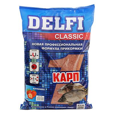 137-025 DELFI прикорм CLASSIC для карпа с ароматом клубники, 800гр DFG102