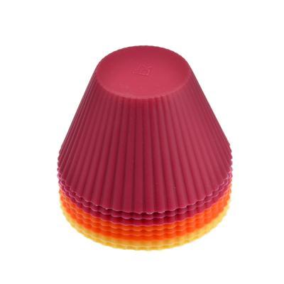 """856-105 Набор форм для выпечки, 8 шт, силикон, 8x5 см, VETTA """"Кекс"""""""