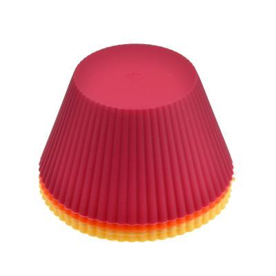 """856-106 Набор форм силиконовых, 4шт, 10x6,5 см, VETTA """"Кекс"""""""