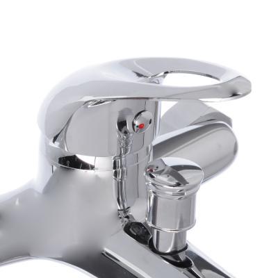 """594-060 Смеситель для ванны, короткий излив, картридж 35 мм, с комплектом для душа, латунь, """"Галактика"""" SonW"""
