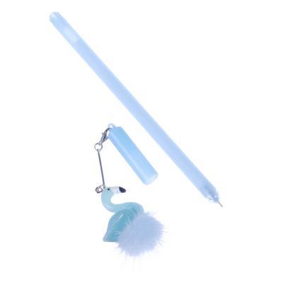 627-027 Ручка гелевая LADECOR с подвеской Фламинго, 3 цвета