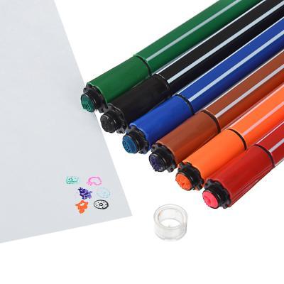 256-138 Фломастеры ClipStudio утолщенные со штампиками, 6 цветов