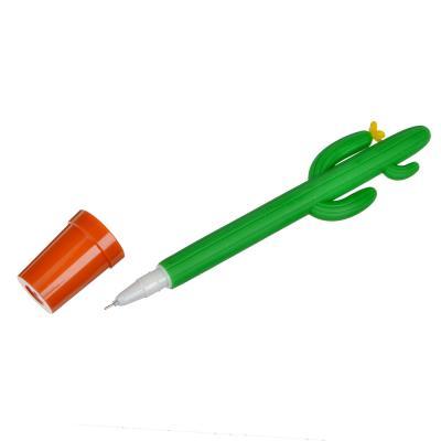 582-009 Гелевая ручка настольная Кактус в горшке 0,5 мм, синяя